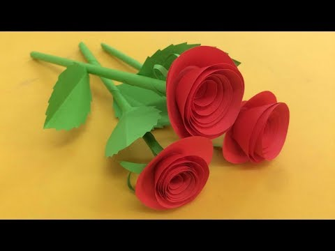 How to Make Small Rose Flower with Paper  Making Paper Flowers Step by Step  DIYPaper Crafts