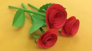 How to Make Small Rose Flower with Paper...