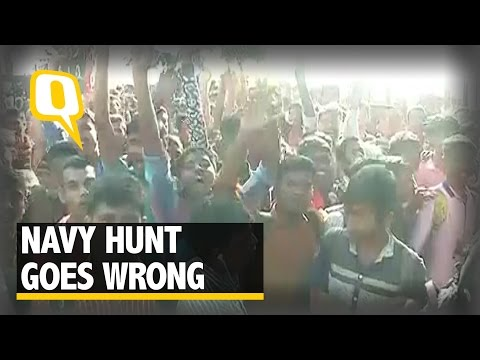 The Quint: Stampede Breaks out at Mumbai Navy Recruitment Camp