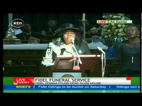 Ida Odinga emotionally eulogizes his son Fidel Odinga