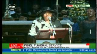 Ida Odinga emotionally eulogizes his son Fidel Odinga