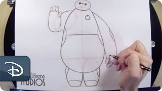 How-To Draw Baymax From 'Big Hero 6' | Disney