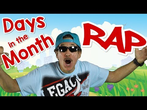 Days In The Month Rap | Helpful Calendar Song for Kids | Jack Hartmann