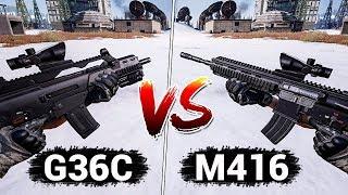 G36C vs M416 - ЧТО ЛУЧШЕ? СРАВНЕНИЕ ХАРАКТЕРИСТИК // ДЕТАЛЬНЫЙ АНАЛИЗ - ПАБГ ГАЙД