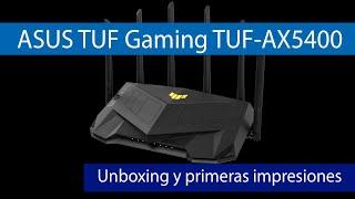 ASUS TUF Gaming TUF-AX5400: Conoce este router GAMING con WiFi 6 de alto rendimiento