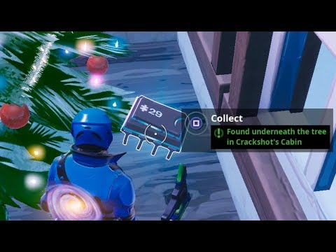 Fortbyte #29 Challenge - Found Underneath the Tree in Crackshot's Cabin Guide - Fortnite