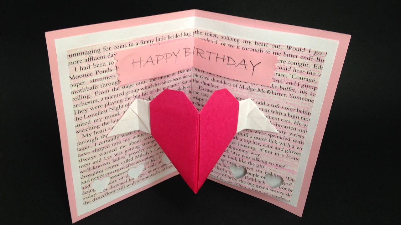 Origami Birthday Card For Her Pop Up Card Instructions 折り紙 誕生日