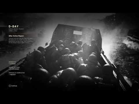 Call of Duty: WWII - D-Day After Action End Mission Report Omaha France, June 6 1944, Heroic Actions