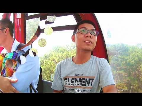 Cable Car from Robin Hill to Truc Lam pagoda in Dalat, Vietnam