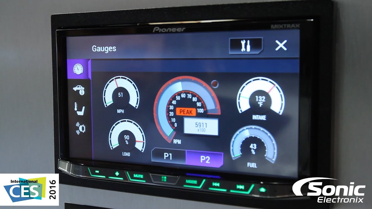 Live Wallpaper For Android Car Radio Pioneer Nex Car Stereos W Gauges And More New Features