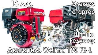 Двигун з редуктором Weima 190 FE L (16 к. с., електростартер)