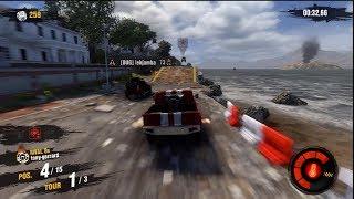 Motorstorm Apocalypse, gameplay multiplayer #2, 4x4 jump