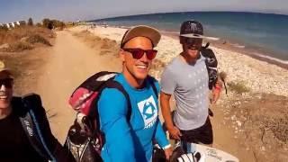 Kitesurfing at Rhodes island 2016 (Prasonisi, Kremasti)