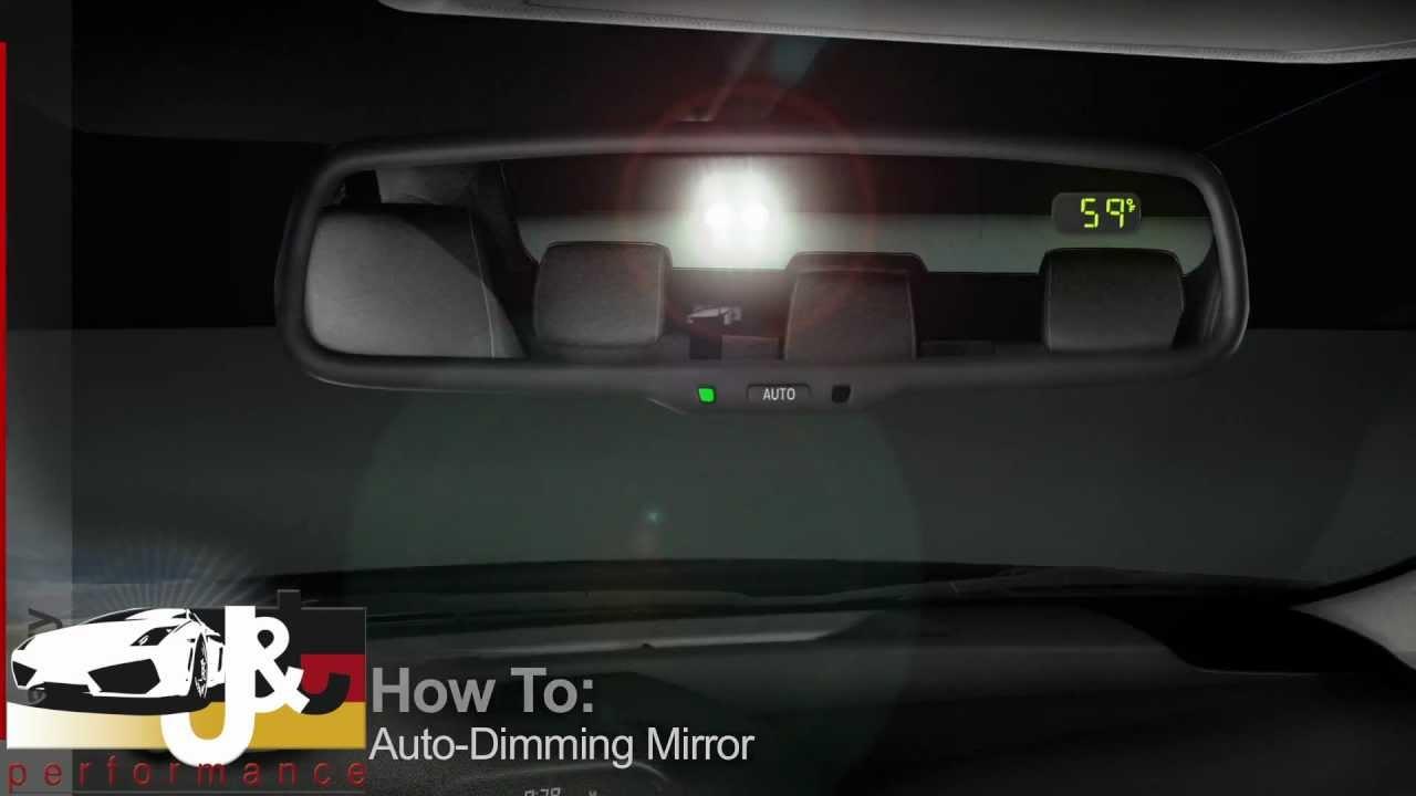 Espejo Retrovisor Autodimming Oscurecimiento Automatico Youtube