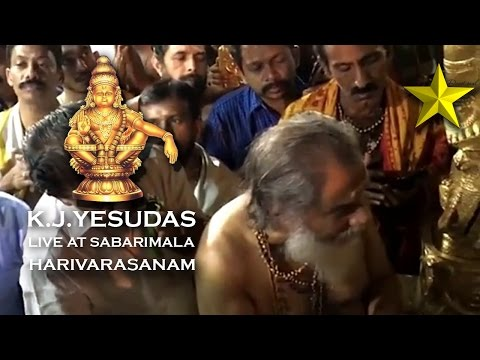 K.Js Live Harivarasanam At Sabarimala | Exclusive Video | Gold Star Devotional