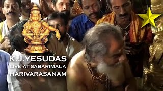 K.j.yesudas live harivarasanam at sabarimala | exclusive video | gold star devotional