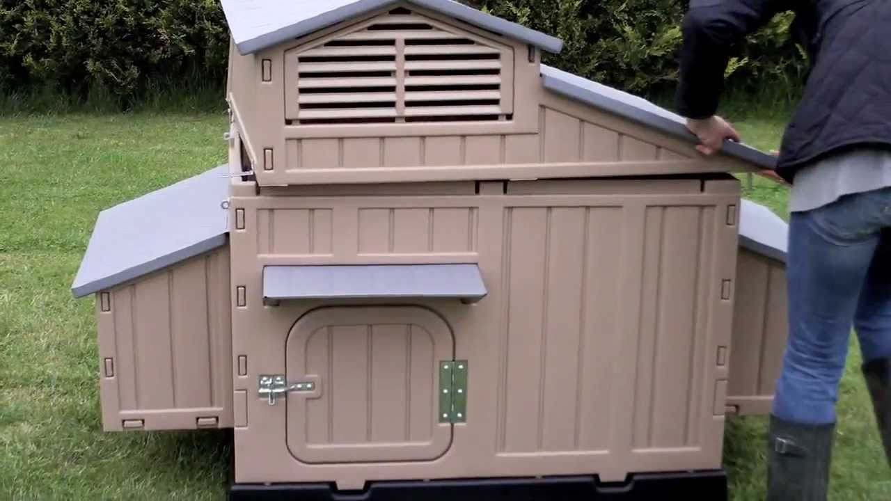 Easy clean large chicken coop no red mite assembly for Maintenance free chicken coop