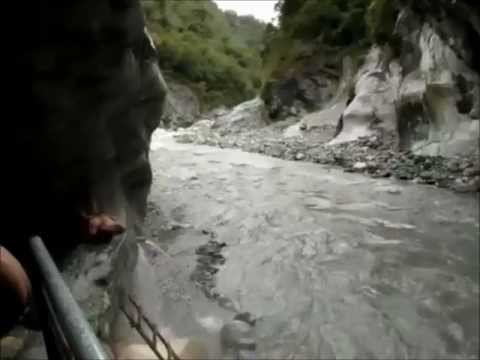 Wenshan Natural Hot Springs Cave in Taroko Gorge, Hualien, Taiwan
