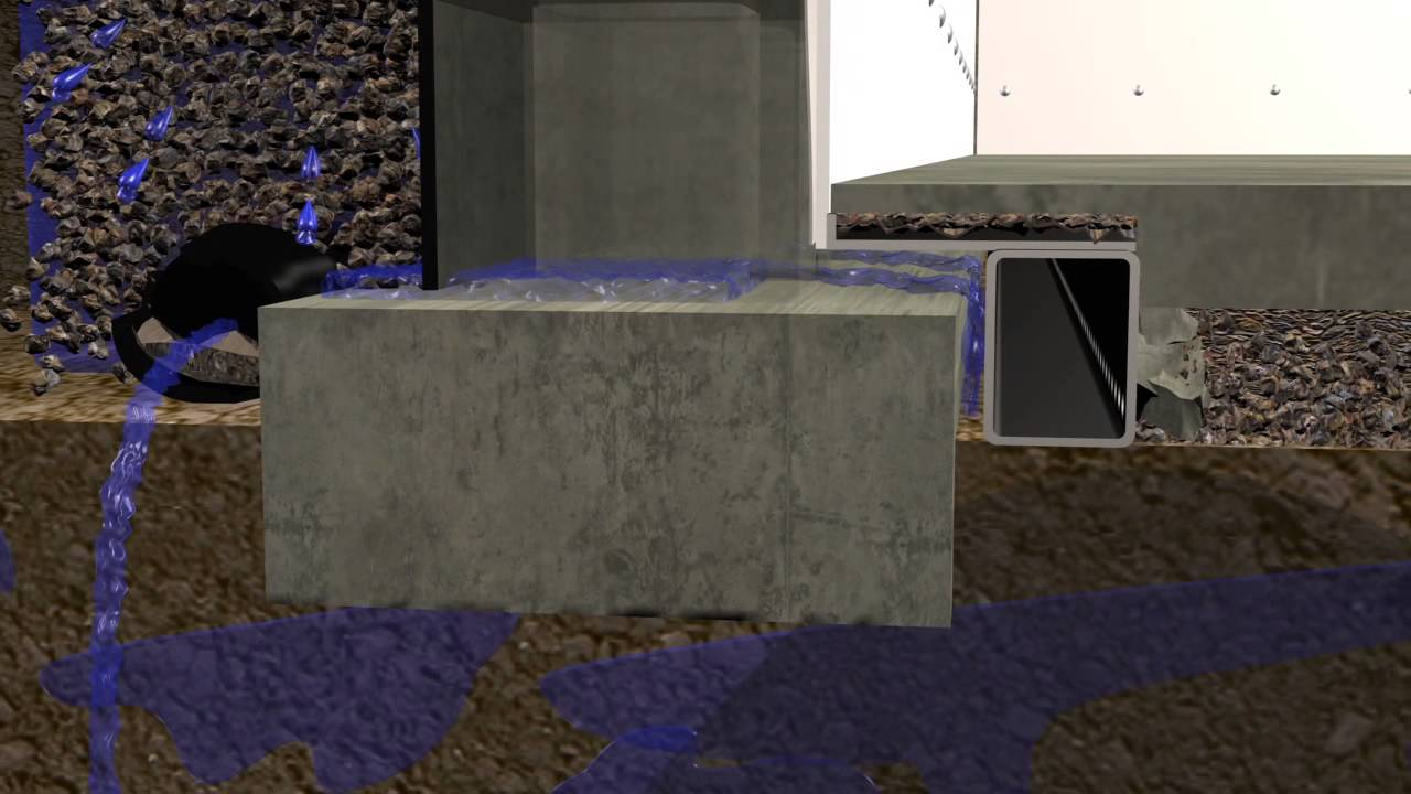Basement waterproofing how the b dry waterproofing for Dry basement