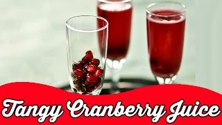 Tangy Chilled Cranberry Juice | Cool Summer Drink