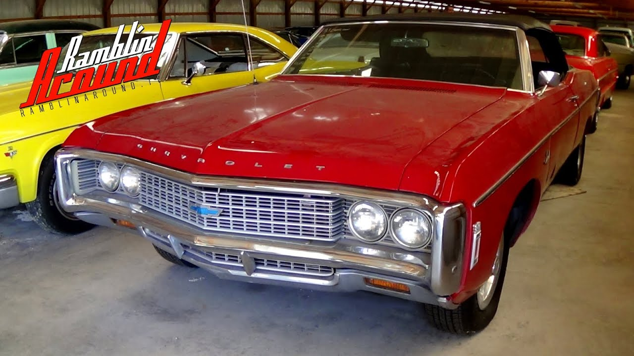 1969 chevrolet impala convertible 350 v8 youtube. Black Bedroom Furniture Sets. Home Design Ideas