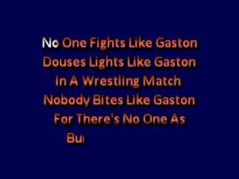 Karaoke Lyrics Beauty And The Beast Gaston Karaoke