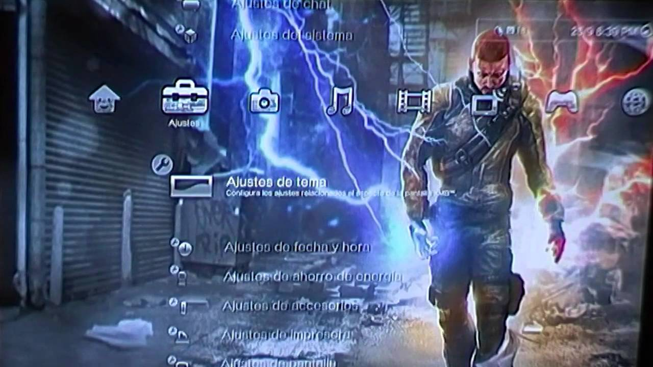 [PS3 THEMES] InFamous Dynamic Theme - YouTube