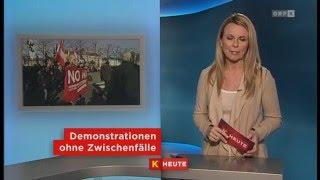 20.2.2016 ORF Kärnten heute: Asyl-Demonstrationen