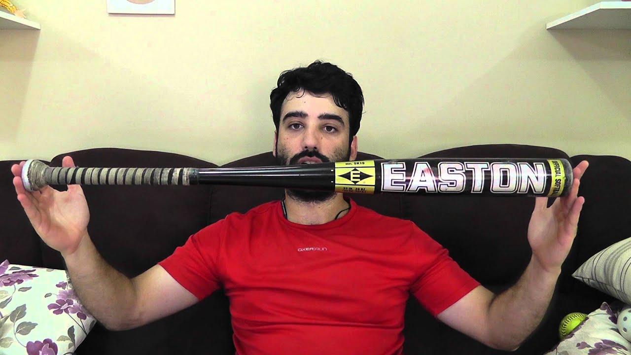 Bate de b/éisbol y softbol de madera resistente de 81/cm de largo completo