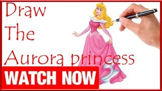 How To Draw The Aurora princess - Learn To Draw - Art Space