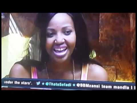 Big Brother speaks zulu with Iris