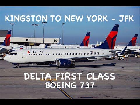 KINGSTON TO NEW YORK (JFK) | DELTA BUSINESS/FIRST | B737 | TRIP REPORT