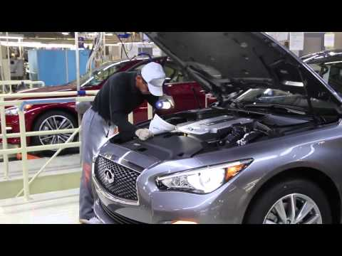 First Infiniti Q50 Rolls Off the Production Line at Tochigi Plant, Japan