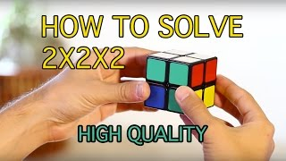 How to Solve a 2x2x2 Rubik's Cube: (Easiest Tutorial in High Quality) thumbnail