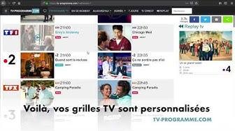 Programme TV gratuit - personnalisation grille TV