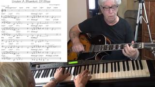 Under A Blanket Of Blue - guitar & piano Jazz cover ( Jerry Livingston ) Yvan Jacques