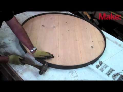 Как сделать круглый стол в гаражных условиях.