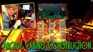 Raspberry Pi Powered Arcade Cabinet - Assembly And Wiring