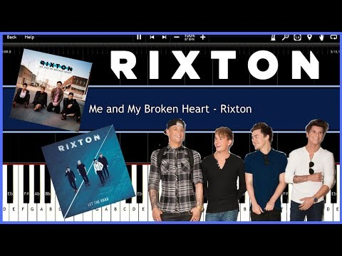 Me and My Broken Heart - Rixton (Synthesia) [Tutorial] [Instrumental Video] [Download]