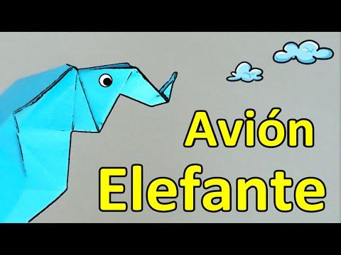 Avión ELEFANTE   Origami WTF