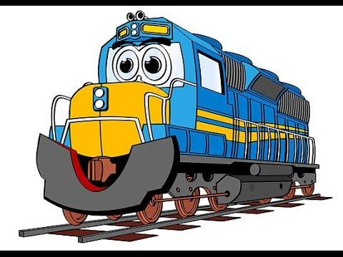 tren de dibujos animados para los niños, dibujos animados de tren