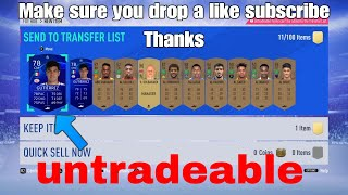 Untradeable Items on the transfer list (*NEW GLITCH*)