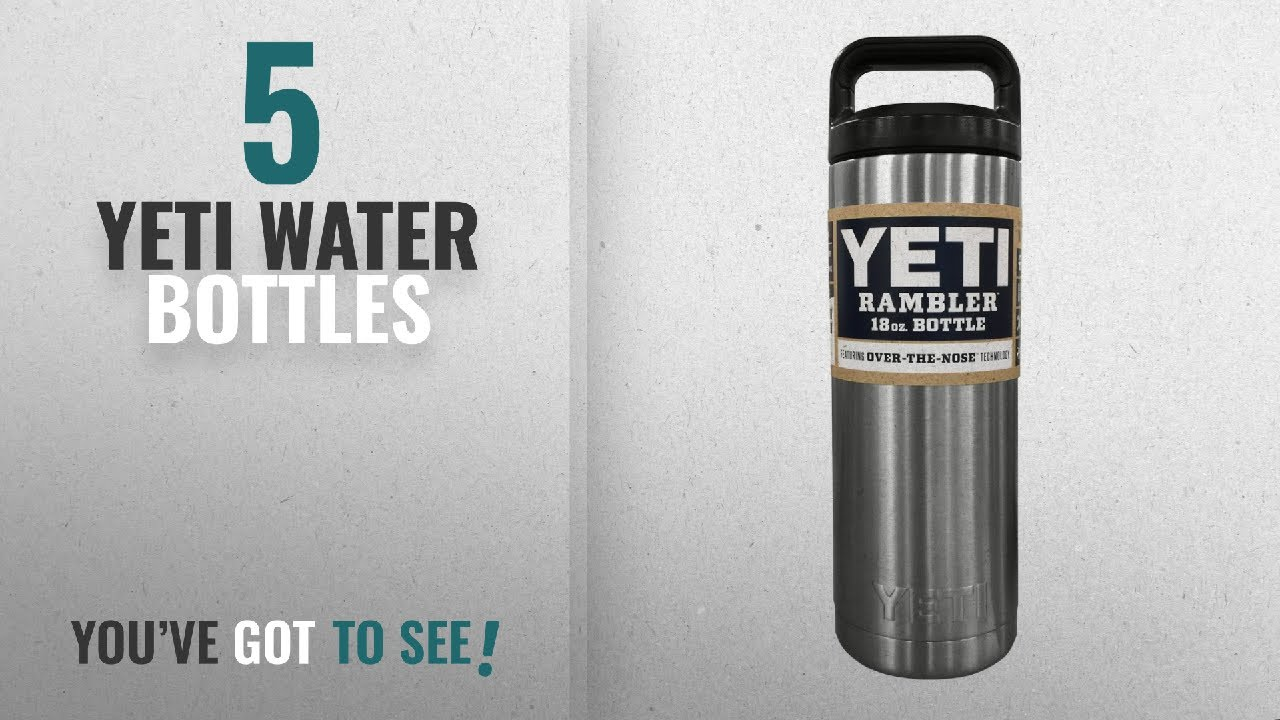 Best Yeti Water Bottles [2018]: YETI Rambler 18 oz Stainless Steel Vacuum  Insulated Bottle with Cap