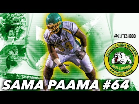 Sama Paama Sophomore Highlights HD   Kaimuki High School (HI)   Class Of '19