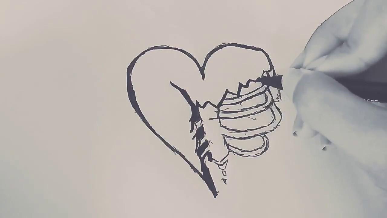 Como Desenhar Um Coracao Triste Tumbrl How To Draw A Sad Tumbrl