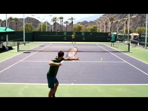 Philipp Kohlschreiber Practice 2016 BNP Paribas Open Indian Wells