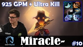 Miracle - Juggernaut Safelane | 925 GPM + Ultra Kill | Dota 2 Pro MMR Gameplay #10