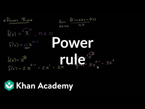 Power rule | Derivative rules | AP Calculus AB | Khan Academy