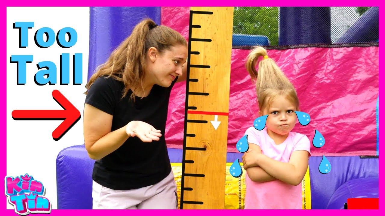 Kin Tin wants to be Taller & Jump on a Trampoline! Is Kin Tin too Tall?