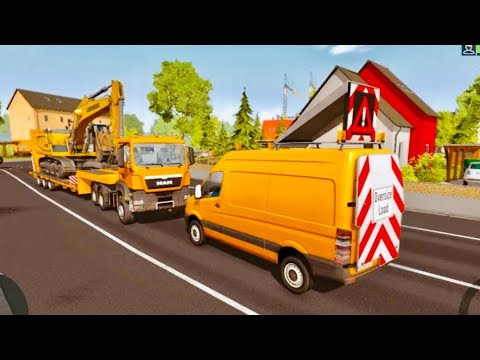 Bau Construction Simulator 2015 - Oversize Load Transport With Escort Vehicle |